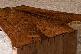 Walnut Crotch Table Stephen Evans Furniture